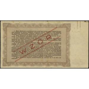 bilet skarbowy na 50.000 złotych 14.11.1945, WZÓR, seri...
