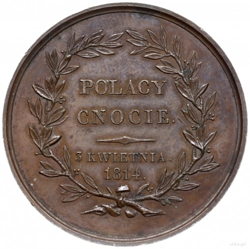 medal z 1814 roku autorstwa Françoisa Augustina Caunois...