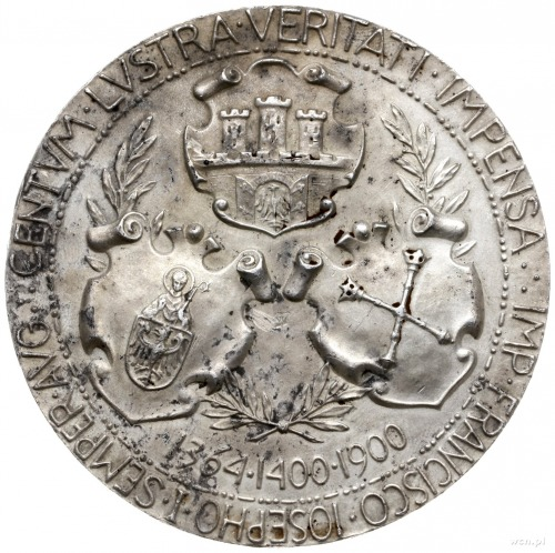 medal z 1900 roku autorstwa Wincentego Trojanowskiego w...