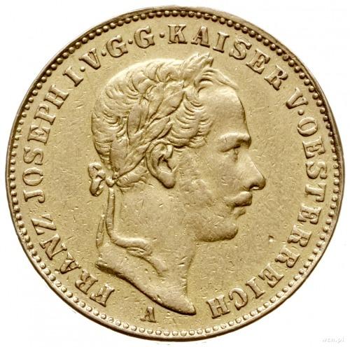1 korona 1860 A, Wiedeń; Fr. 408, Herinek 210, MzA s. 3...