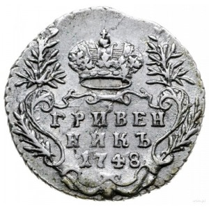 griwiennik 1748, Moskwa; Bitkin 208, Diakov 189; wybity...