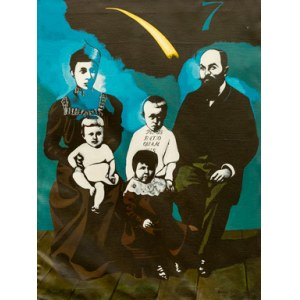 Antoni FAŁAT ur. 1942, Portret rodzinny, 1987