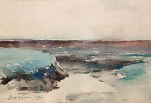 Marian Mokwa (1889 Malary - 1987 Sopot), Pejzaż morski, 1921 r.