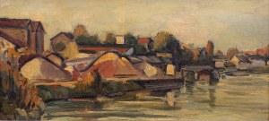 Michel Adlen (1898 Łuck – 1980 Paryż), Pejzaż z Sekwaną, 1954