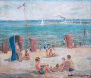 Antoni Bartkowski (1891-1974), Na plaży – Sopoty, przed 1969 r.