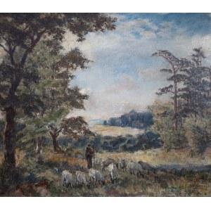 Albert Lipczinski (1876 Lebork – 1974 Sopot), Scena z pasterzem