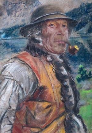 Stanisław Górski (1887 Kościan - 1955 Kraków), Baca z fajką