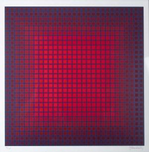 Julian Stańczak (1928 Borownica - 2017 Seven Hills), Kompozycja geometryczna