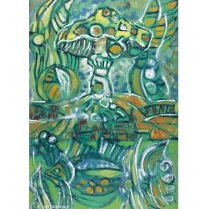 Kazimierz Ostrowski (1917 Berlin-1999 Gdynia), Kompozycja z zielonym muchomorem