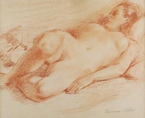 Kazimierz Wiktor HOLLER (1881-1975), Akt leżącej kobiety