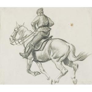 Ryszard PRAUSS (1902-1955), Ułani na koniach