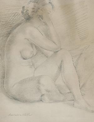 Kazimierz Wiktor HOLLER (1881-1975), Akt siedzącej kobiety