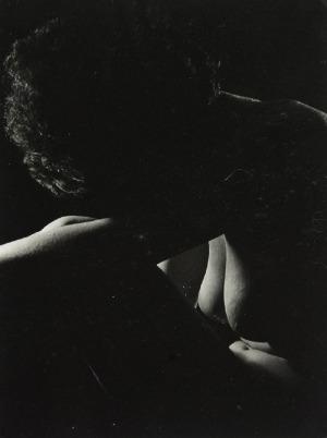 Ladislav POSTUPA (1929-2016), Akt siedzącej pochylonej kobiety