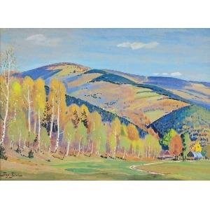 Togo Kazimierz FAŁAT (1904-1981), Jesienny pejzaż górski
