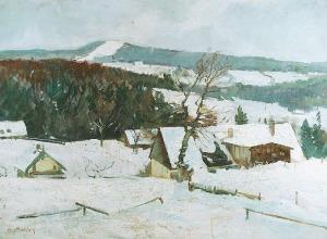 Alfred NICKISCH (1872-1948), Zima w Sudetach