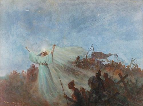 Czesław Borys JANKOWSKI (1862-1941), Jutrzenka Wolności - scena symboliczna, 1912