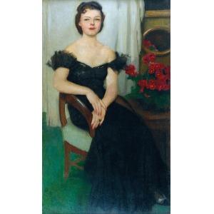 Alfons KARPIŃSKI (1875-1961), Portret Pani Sch., ok. 1940