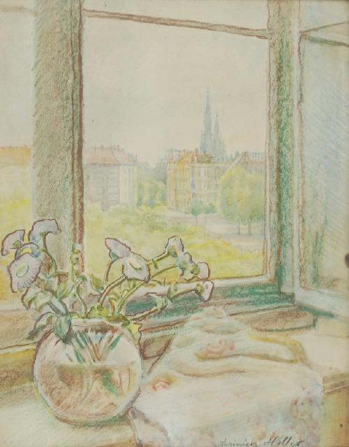 Kazimierz Wiktor HOLLER (1881-1975), Martwa natura na parapecie