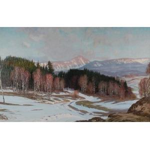 Paul WEIMANN (1867-1945), Widok na Śnieżkę