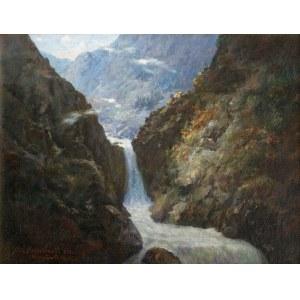 Aleksander Mroczkowski (1850- 1927), Wodospad w Roztoce, 1922