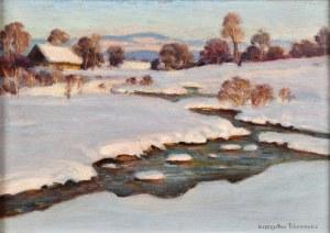 Mieczysław Filipkiewicz (1891-1951), Pejzaż zimowy