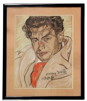 Stanisław Ignacy Witkiewicz Witkacy (1885-1939), Portret mężczyzny, 1928
