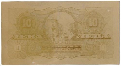 Bułgaria FOTO-PROJEKT 10 leva (1920) - tylko rewers