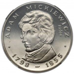 Próba NIKIEL 100 złotych 1978 Adam Mickiewicz - z loczkiem