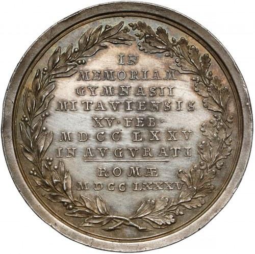 Kurlandia [Łotwa], Piotr Biron, Medal SREBRO 1785 - Gimnazjum w Mitawie