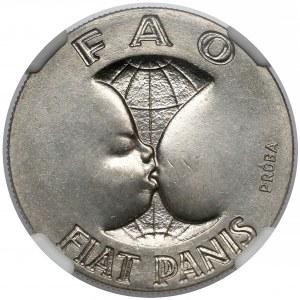 Próba NIKIEL 10 złotych 1971 FAO Fiat Panis