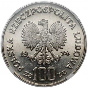 Próba NIKIEL 100 złotych 1974 Zamek Królewski