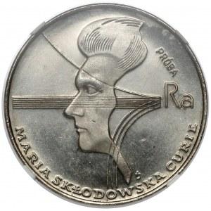Próba NIKIEL 100 złotych 1974 Skłodowska-Curie - w lewo