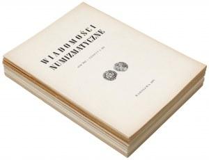 Wiadomości numizmatyczne 1977-1983 - luźne nr (8szt)