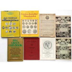 Katalogi, czasopisma o monetach zagranicznych (8szt)