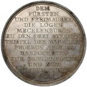 Niemcy, Meklemburgia, Karol II, Medal pośmiertny 1817 - Wielkie Księstwo (Loos)
