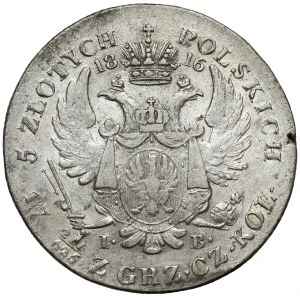 5 złotych polskich 1816 IB - pierwsze