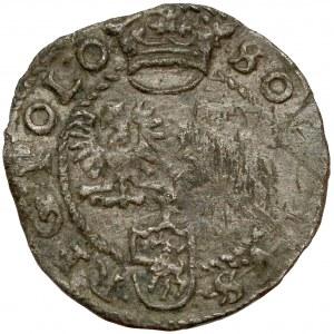 Zygmunt III Waza, Szeląg Poznań 1600 - litera P nad Lewartem