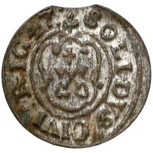 Krystyna Waza, Szeląg Ryga 1647 - klucze