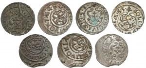 Krystyna i Karol, Szelągi Ryga 1644-1661 (7szt)