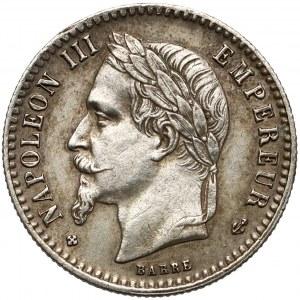 Francja, Napoleon III, 50 centimes 1867 BB
