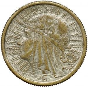 Głowa Kobiety 2 złote 1932 - falsyfikat z epoki - CIEKAWE