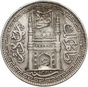 Indie, Hyderabad, 1 rupia AH1330, rok 1 (1912)