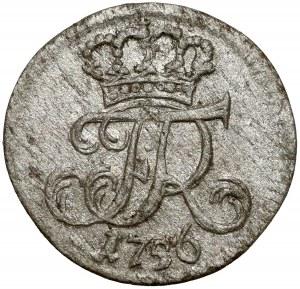 Śląsk, Fryderyk II, 1 gröschel 1756 B, Wrocław