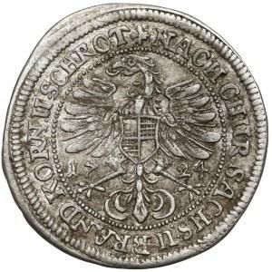 Brandendburg-Bayreuth, Georg Wilhelm, 1/24 Taler 1724 IL TT