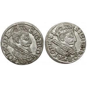 Zygmunt III Waza, Trojaki Kraków 1622 i 1624 (2szt)