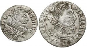 Zygmunt III Waza, Szóstak i trojak Kraków 1622 i 1626 (2szt)