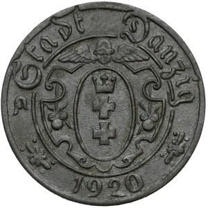Gdańsk, 10 fenigów 1920 cynk - 55 perełek