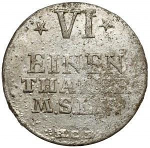 Mecklenburg-Strelitz, Adolph Friedrich V, 1/6 Taler 1757 HCB