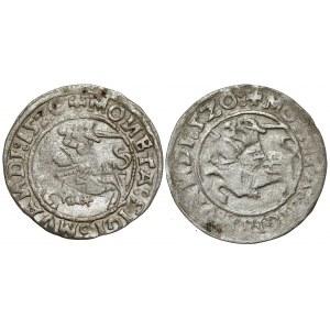 Zygmunt I Stary, Półgrosz Wilno 1520 - pełna i skrócona (2szt)