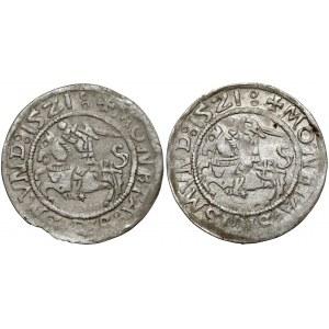 Zygmunt I Stary, Półgrosz Wilno 1521 - SIGISMVND (2szt)